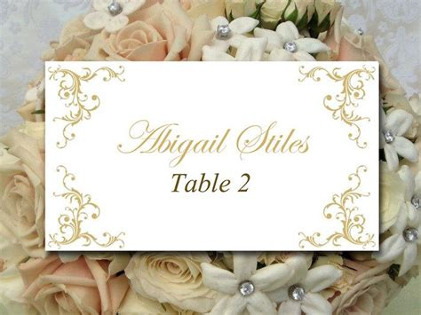 wedding table setting cards templates diy wedding place card template printable card