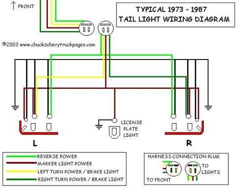Headlight Tail Light Wiring Schematic Diagram