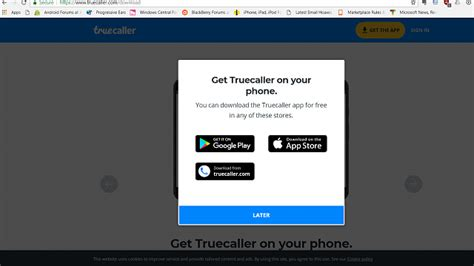 why truecaller app is not available for my lumia 540 windows central forums