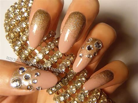 gold nail designs pretty nails with gold details