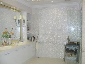 White freshwater mother of pearl tile - PM001-g - Gimare