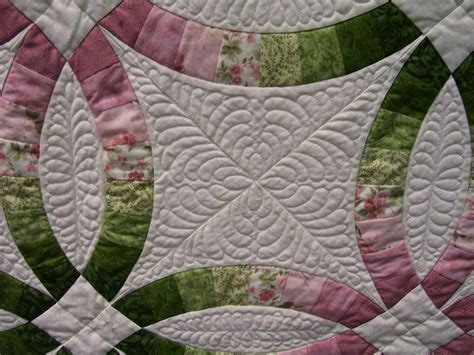 quilting   customers double wedding ring quilt