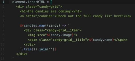 javascript template frameworkless javascript template literals with html syntax highlighting