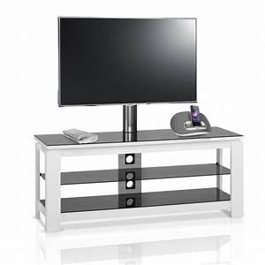 Meuble Tv Design Blanc 120 Cm HG 836H IW Premium Mobuler