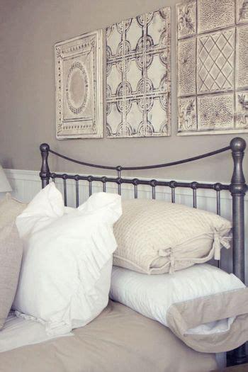 tin panels  bed     decorative pieces