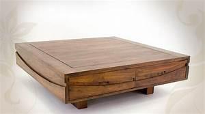 Table Bois Massif Design : table basse design bois massif id es de d coration int rieure french decor ~ Teatrodelosmanantiales.com Idées de Décoration