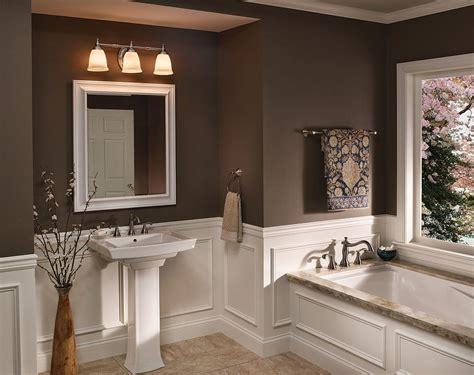 Brown Bathroom Fixtures by Progress Lighting P3029 Master Bath Bathroom Lighting