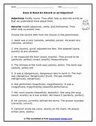 Adverb Worksheets Midd...