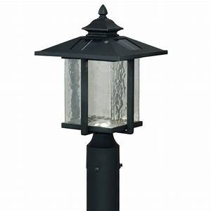Paradox led quot textured black solar outdoor post