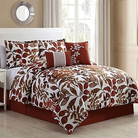 fall bedding sets autumn 6 comforter set in spice brown bed bath