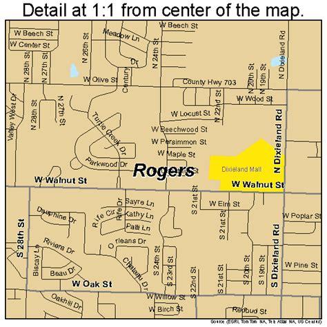 Rogers Arkansas Street Map 0560410