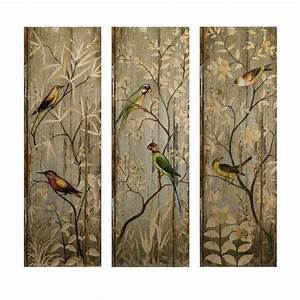 home decorators collection 42 in h calima bird wall decor With bird wall art