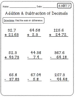 5th grade common math worksheet subtraction common worksheets 5th grade edition create teach