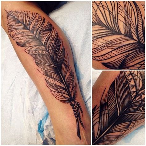 Nice feather tattoo, bohemian style | Tattoomagz.com ...