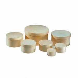 Petite Boite En Bois : bo te ronde en bois 6 5 cm glorex chez rougier pl ~ Teatrodelosmanantiales.com Idées de Décoration