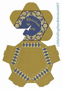 chocolate frog box by littlefallingstar on deviantart With chocolate frog box template printable