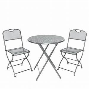 Tisch Höhe 60 Cm : greemotion balkonset estera grau tisch ca 60 h he ca 72 cm stuhl ca 42 x 48 x 86 cm ~ Whattoseeinmadrid.com Haus und Dekorationen
