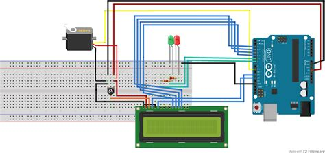 fritzing project arduino uno r3 servo