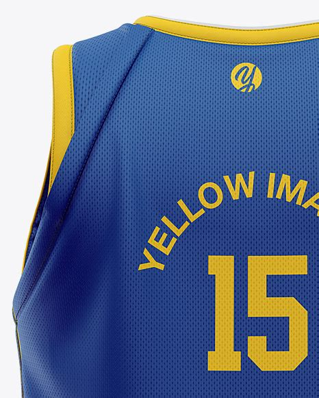 I found it hard to find a free one. Men's Basketball Jersey Mockup - Back View in Apparel ...