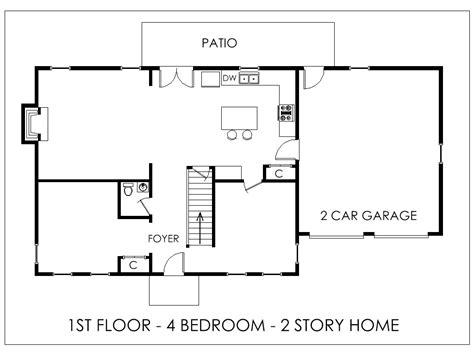 Home Floor Plans 4 Bedroom Open Plan Design Master One