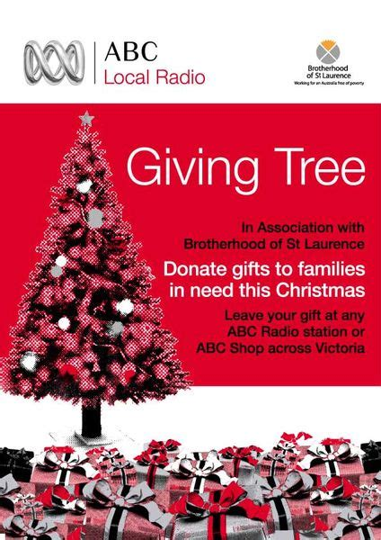 christmas gift donation charity giving tree appeal abc melbourne australian broadcasting corporation