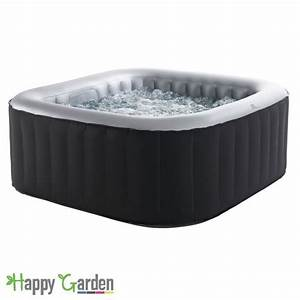 Spa 4 Places : spa carr gonflable 4 places anthracite int rieur gris ~ Nature-et-papiers.com Idées de Décoration