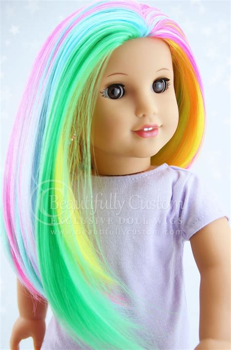 Spring Pastel Rainbow Radiance Doll Wig For Custom