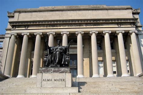 Barcelona / spain 05 25 2019: Wallpapers and pictures: The library of Columbia University wallpaper