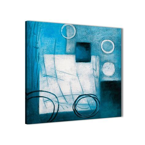 Teal White Painting Kitchen Canvas Pictures Accessories