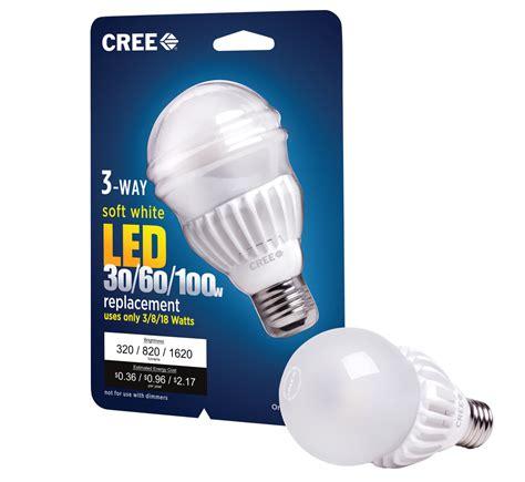 cree 3 way led bulb spans 30w 100w slashgear