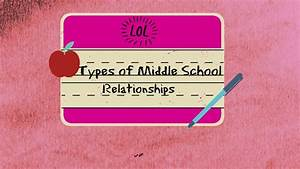Types of Middle School Relationships - YouTube