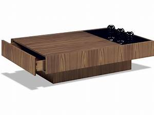 Modern coffee table storage for Designer coffee table with storage