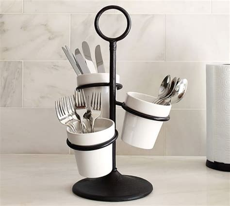 pottery barn kitchen accessories utensil caddy pottery barn 4374