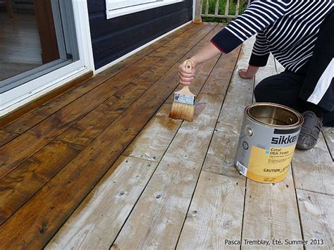 stain deck how to stain a wood deck diy staining deck