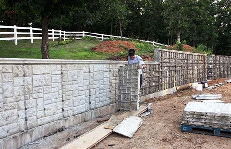 foam concrete forms for retaining walls concrete forms ashlar stone
