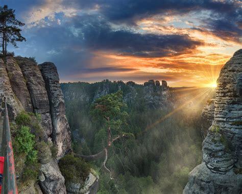 elbe sandstone mountains highland   czech republic