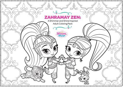 zahramay zen shimmer  shine adult coloring
