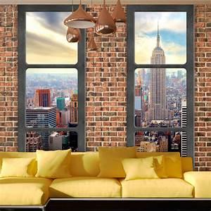 Vlies fototapete 3 farben zur auswahl tapeten fenster for Markise balkon mit tapete new york