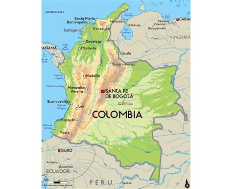 maps  colombia collection  maps  colombia south