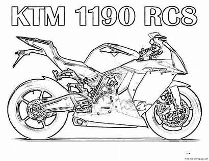Malvorlagen Coloring Ausmalbilder Motorcycle Kostenlos Motorrad Printable