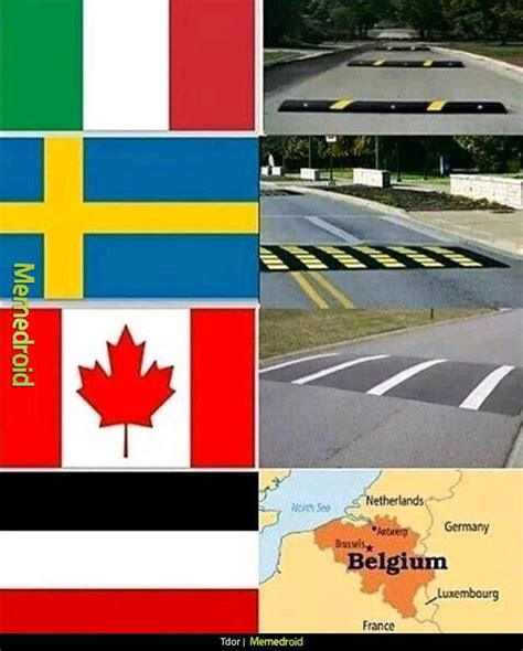 Speed Bump Meme Speed Bumps For Different Countries Meme By Jimbomyboy
