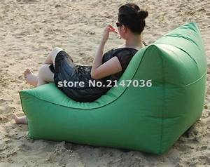 Large space and wide waterproof outdoor bean bag chair for Bean bag chair with back support
