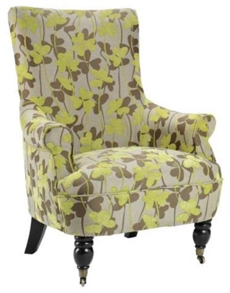 ella arm chair green flowers contemporary armchairs