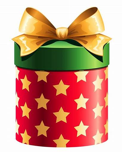Gift Clipart Round Presente Caixa Natal Stars