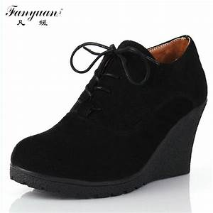 2017 New Wedges Women Boots Fashion Flock High heeled ...