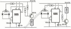 555 ic pwm controller grounded and ungrounded load With pwm controller ic