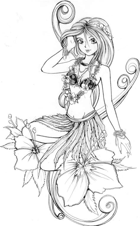 hawaiian coloring pages bestofcoloringcom