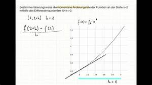Momentane änderungsrate Berechnen : momentane nderungsrate durch schrittweise ann herung h methode youtube ~ Themetempest.com Abrechnung