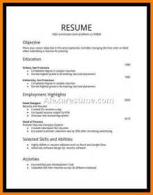 Time Employment Resume Template by Writing A Cv Cide Resume Template For Sle Resume For No