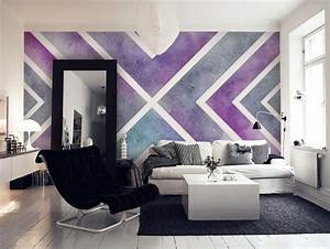 Purple X Wall mural